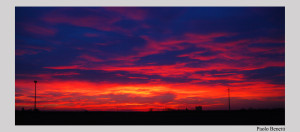 tramonto campagna ferrara